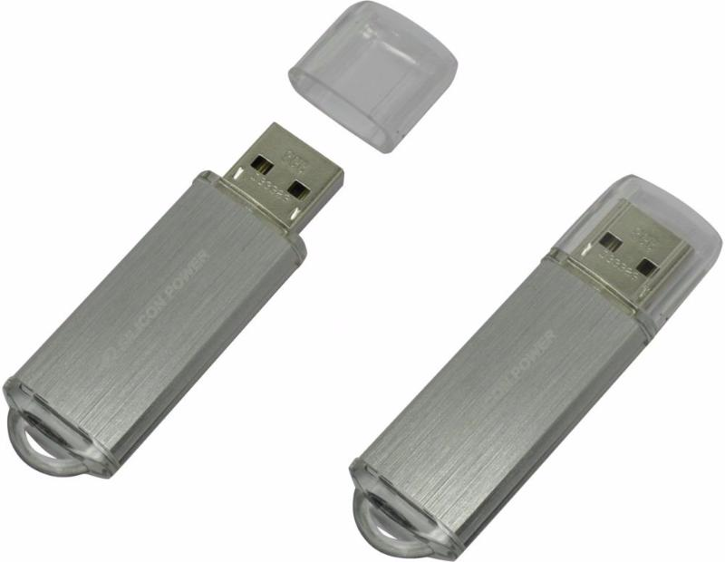 Silicon Power 8Gb Ultima II-I Series SP008GBUF2M01V1S USB2.0 серебристый